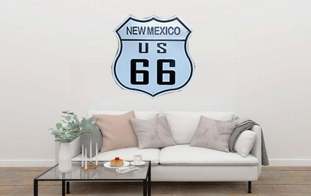 New Mexico US 66 Large Metal Tin Sign Poster
