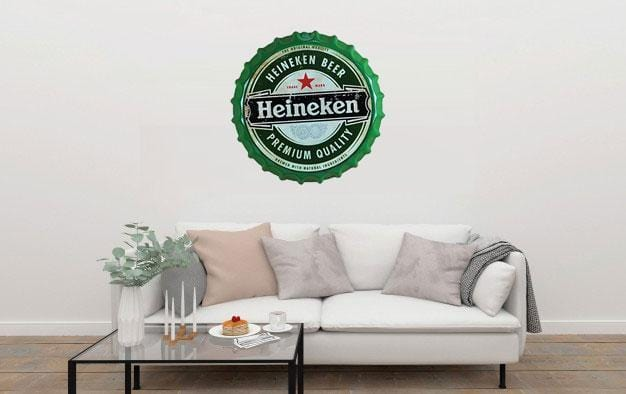 Heineken Beer Cap Metal Tin Sign Poster