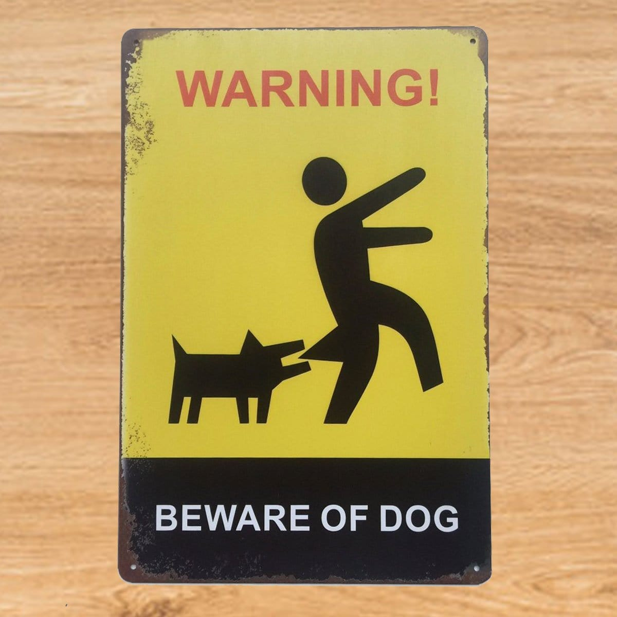 Beware of Dog Metal Sign Poster
