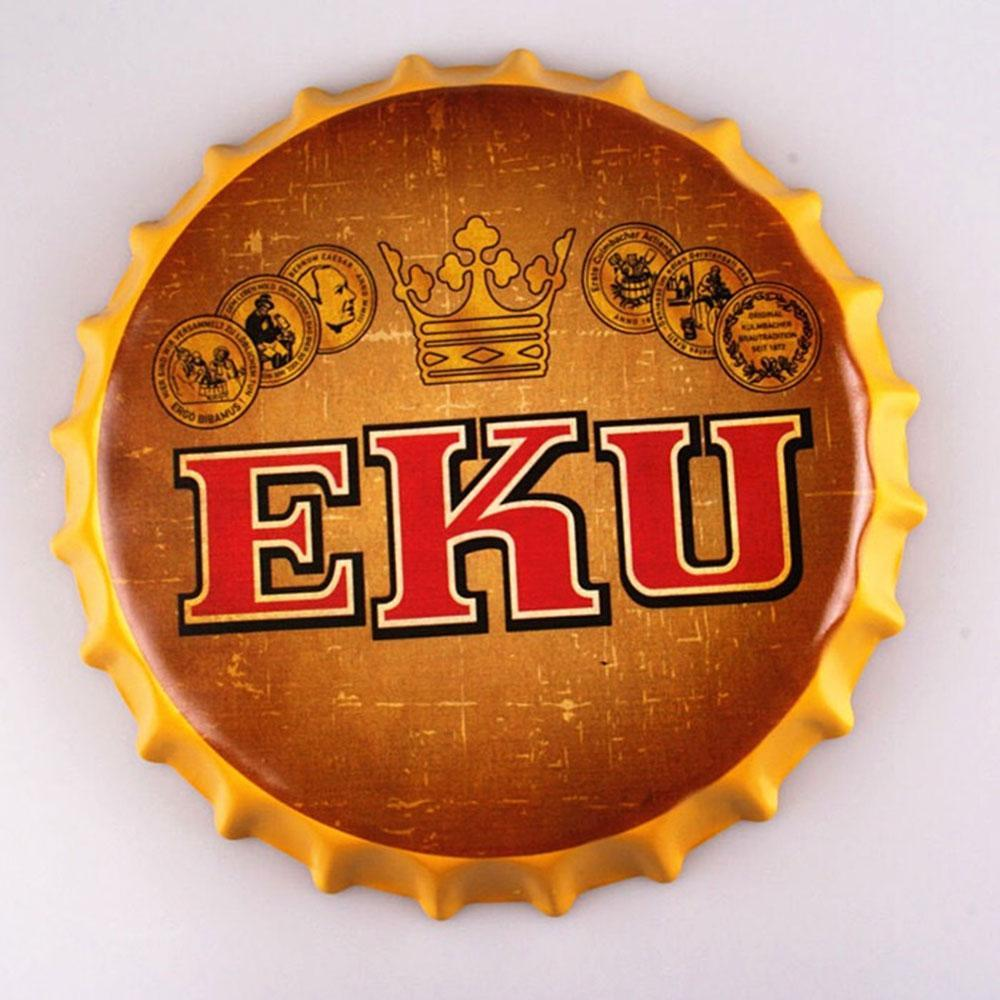EKU Beer Cap Metal Tin Sign Poster