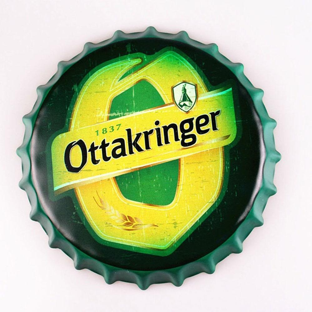 Ottakringer Beer Cap Metal Tin Sign Poster