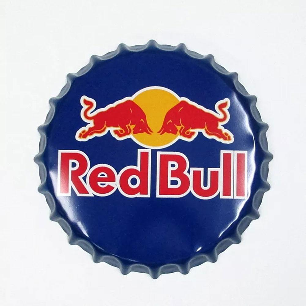 Red Bull Beer Cap Metal Tin Sign Poster