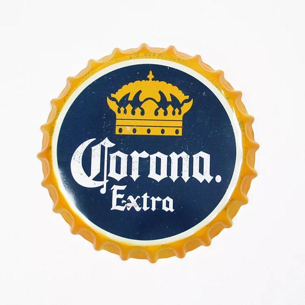 Corona Beer Cap Metal Tin Sign Poster