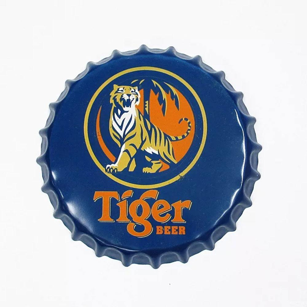 Tiger Beer Beer Cap Metal Tin Sign Poster