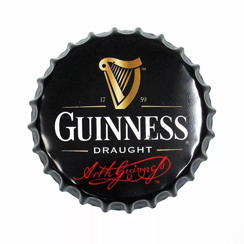 Guinness Beer Cap Metal Tin Sign Poster