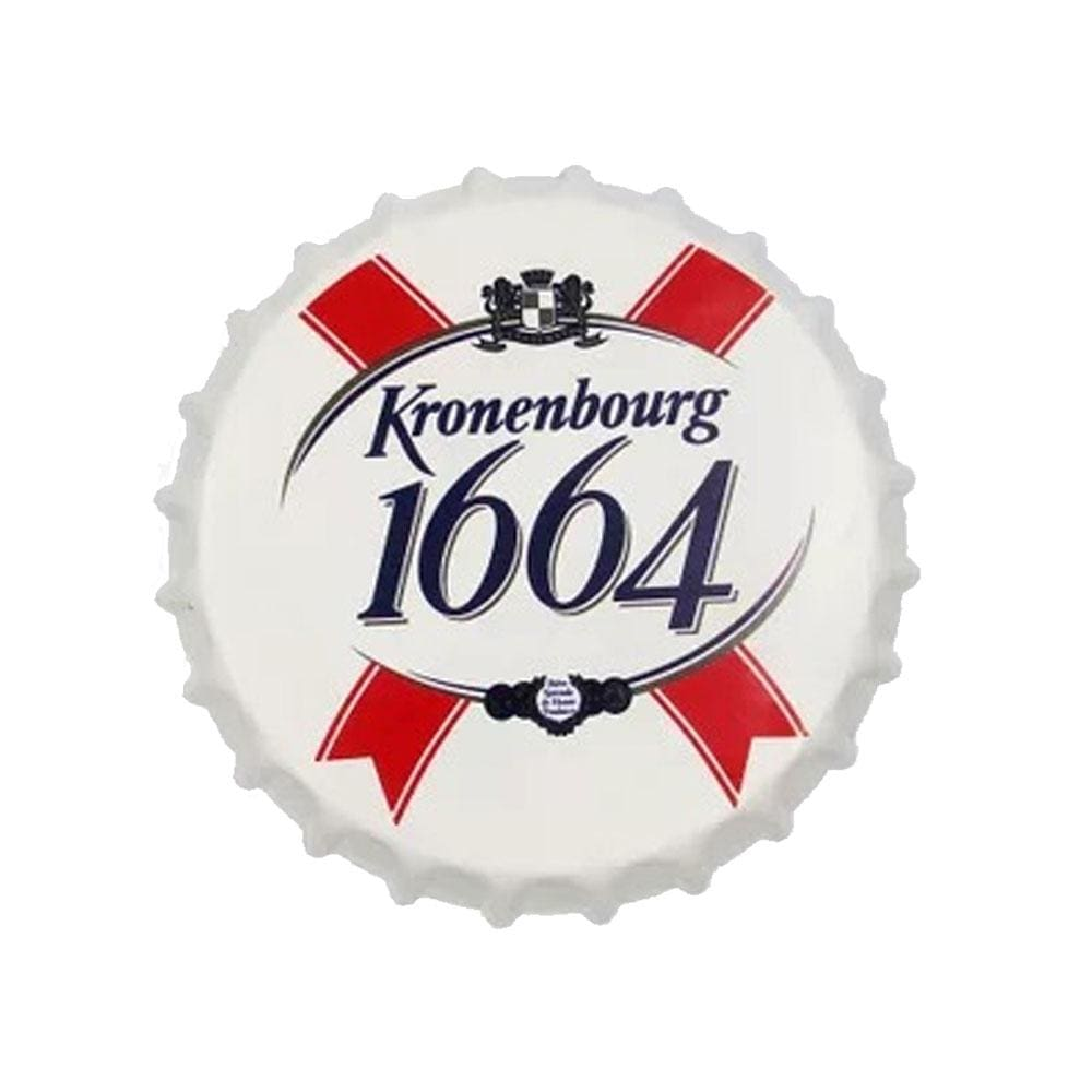 Kronenburg 1664 Beer Cap Metal Tin Sign Poster