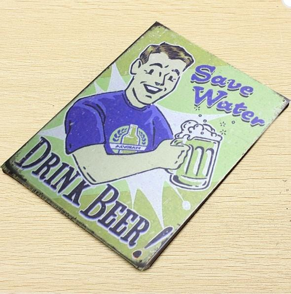 Save water drink beer Tin Poster