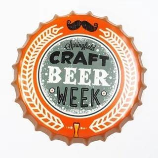 Craft Beer Week Beer Cap Metal Tin Sign Poster