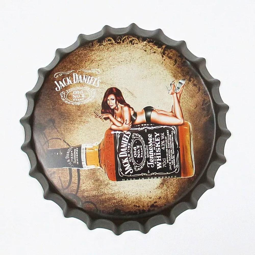 Jack Daniels Beer Cap Metal Tin Sign Poster