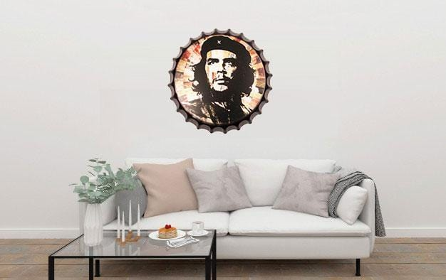 Che Guevara Beer Cap Metal Tin Sign Poster