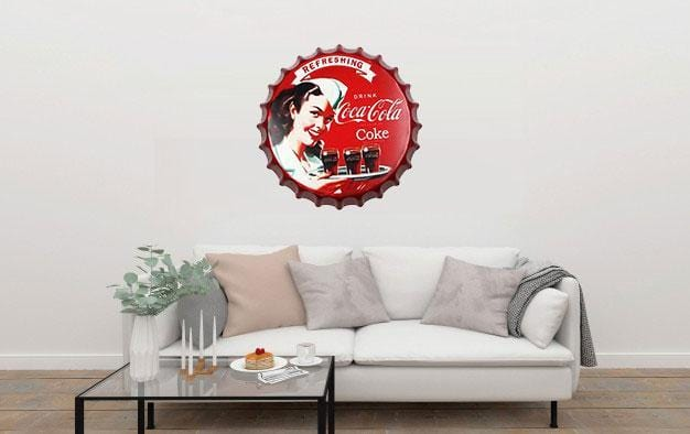 Drink Coca Cola Beer Cap Metal Tin Sign Poster