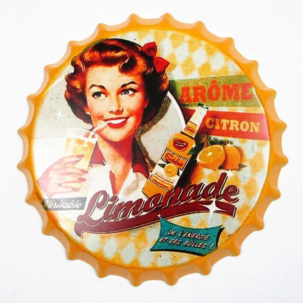 Limonade Beer Cap Metal Tin Sign Poster
