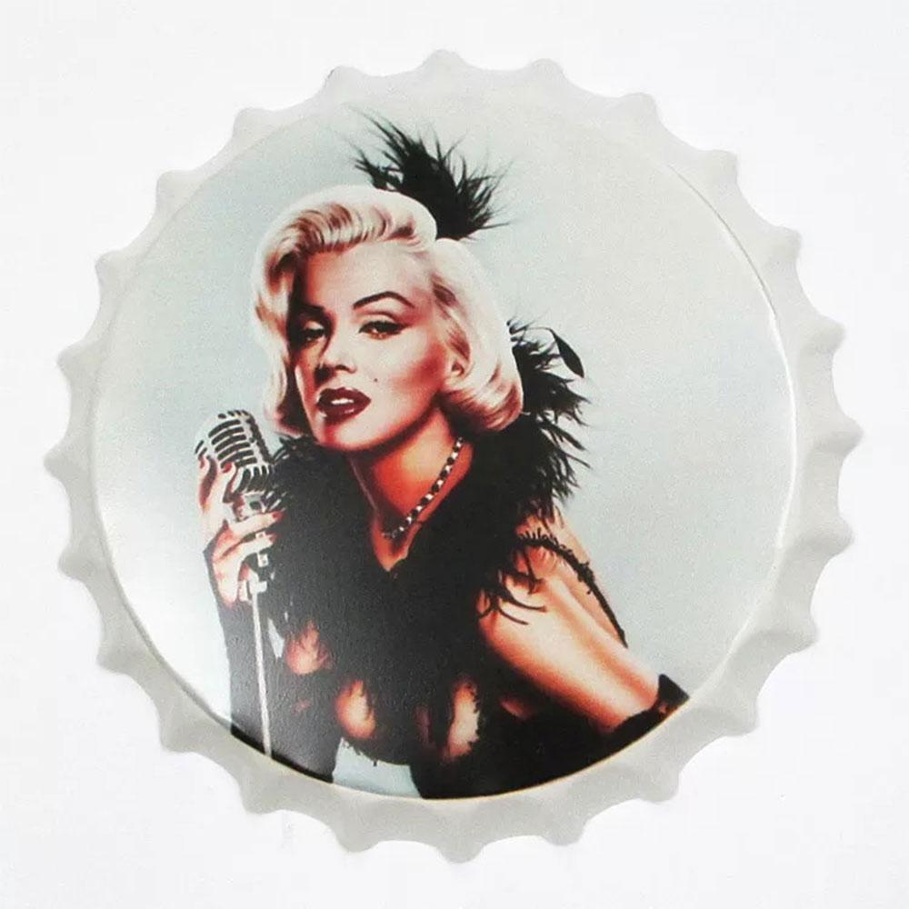 Marlyn With Mike Beer Cap Metal Tin Sign Poster
