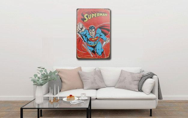 Superman Metal Poster