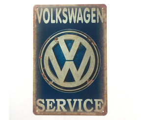 Volkswagen Service Metal Tin Sign Poster