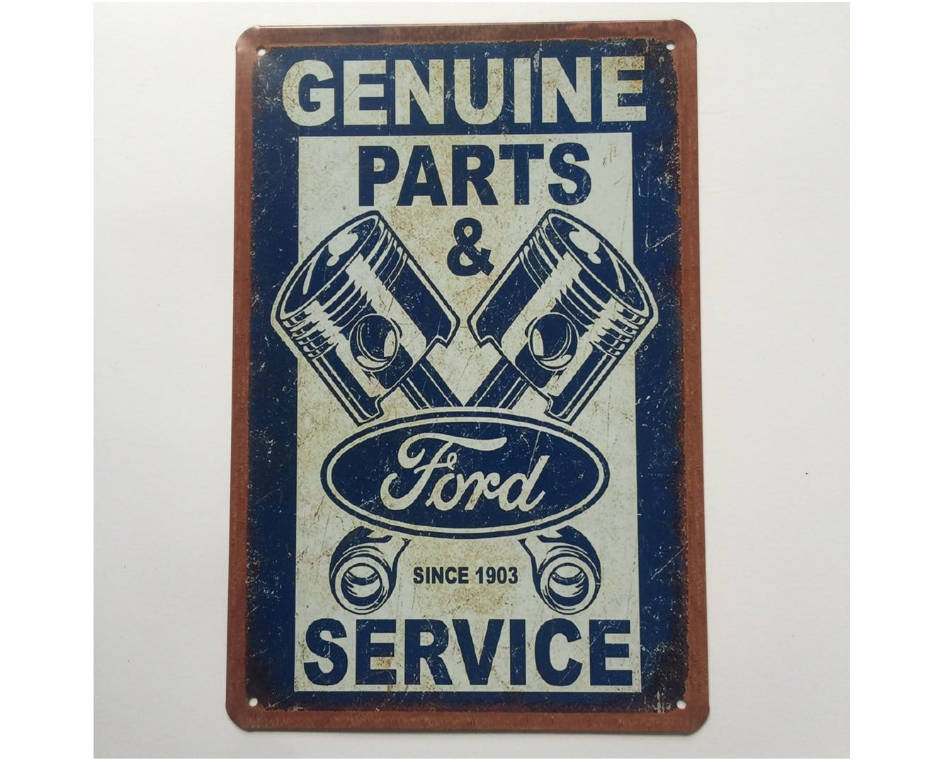 Ford Parts and Service Metal Tin Poster