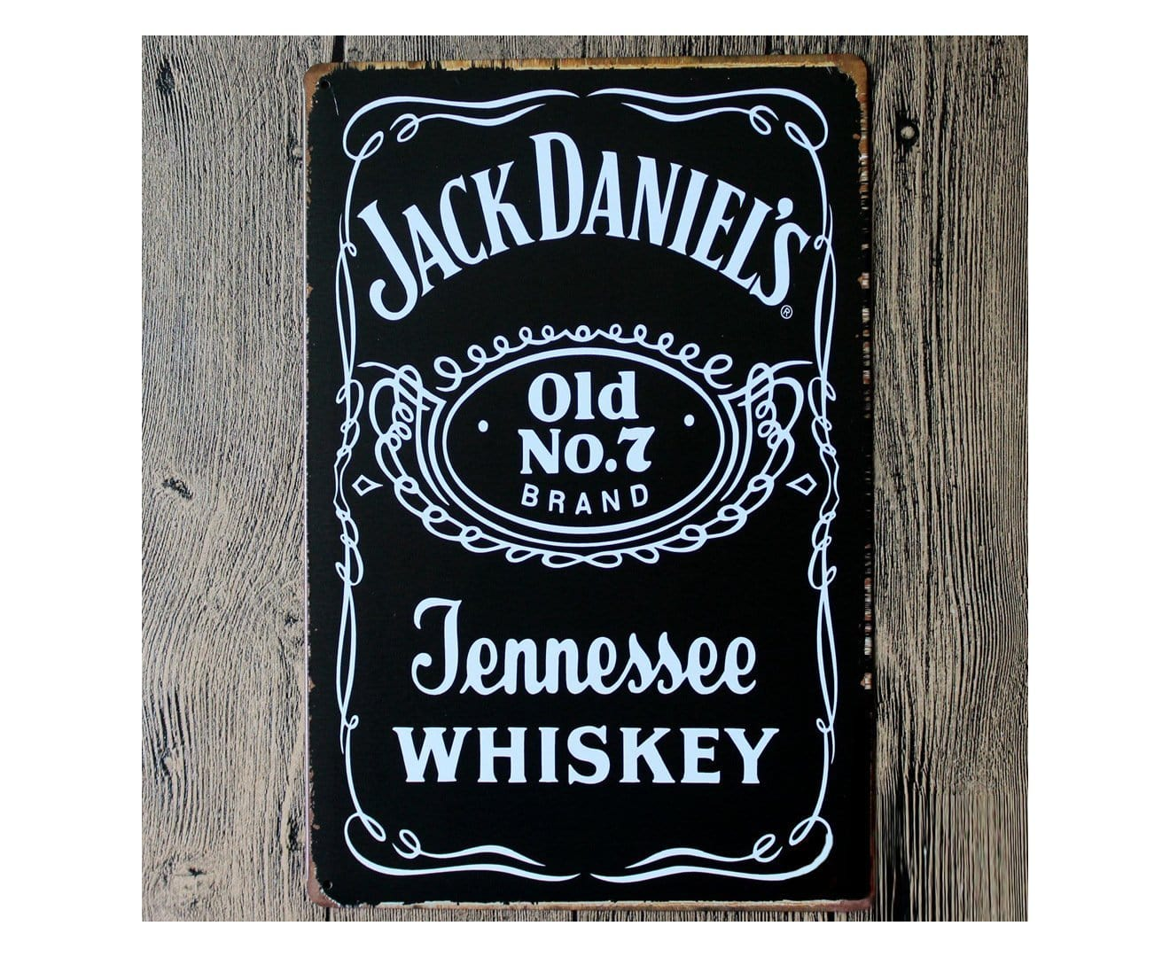 Jack Daniels Whiskey Metal Tin Poster