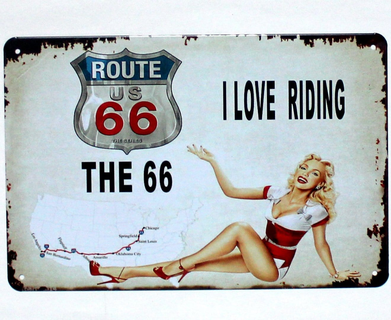 Route 66 Metal Tin Poster