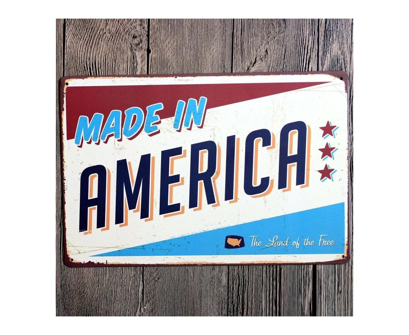 Made in America Metal Tin Poster