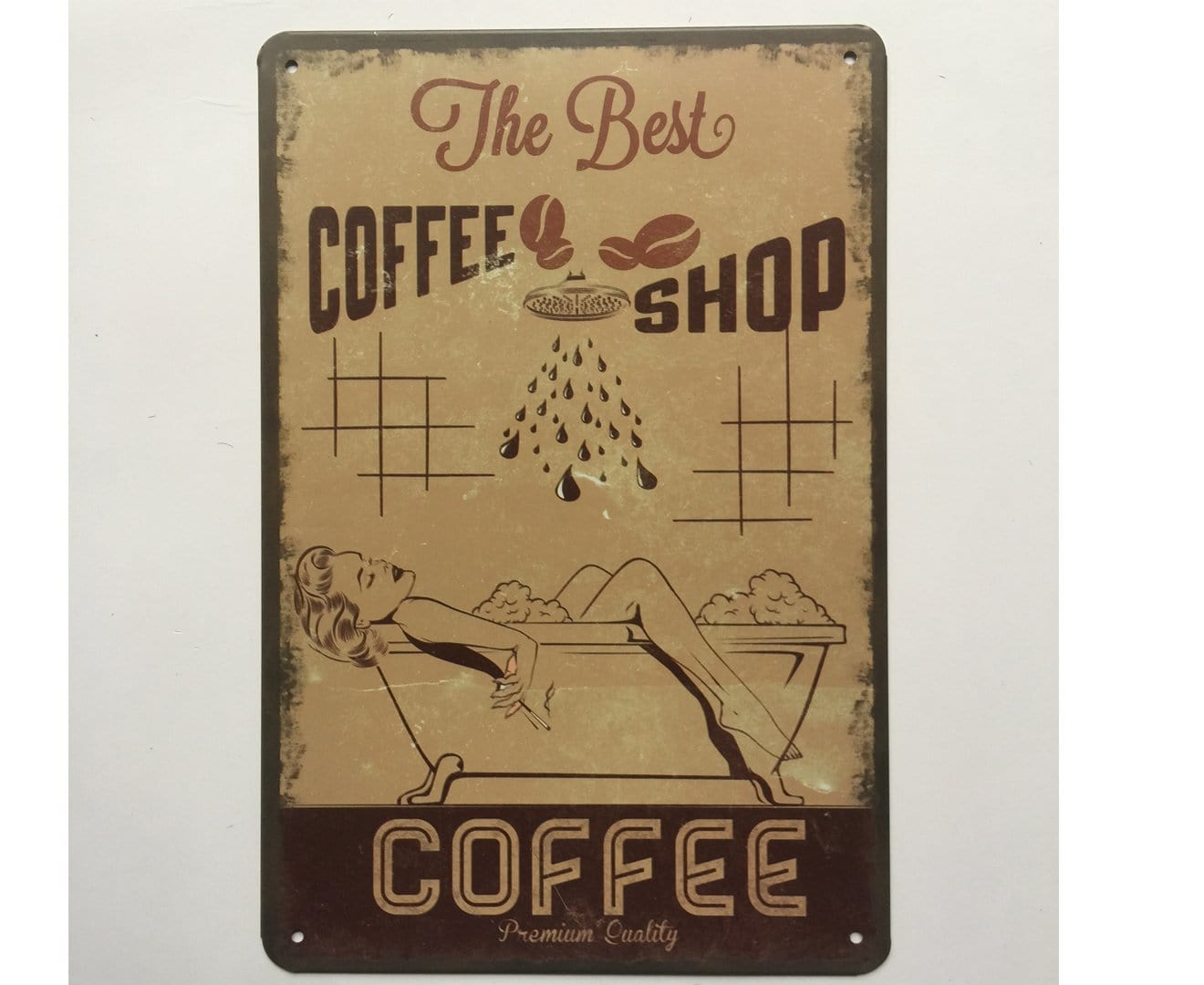 Best Coffee Shop Metal Tin poster