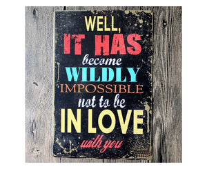 Love Quote Metal Tin Poster