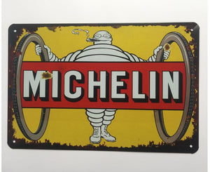 MicheLin Metal Tin Sign Poster