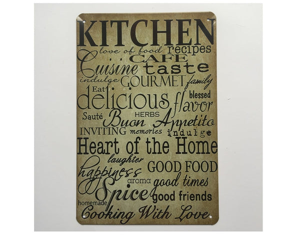Kitchen Quote Metal Tin Poster