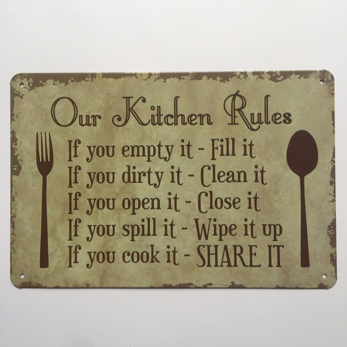 Our Kitchen Rules Sign