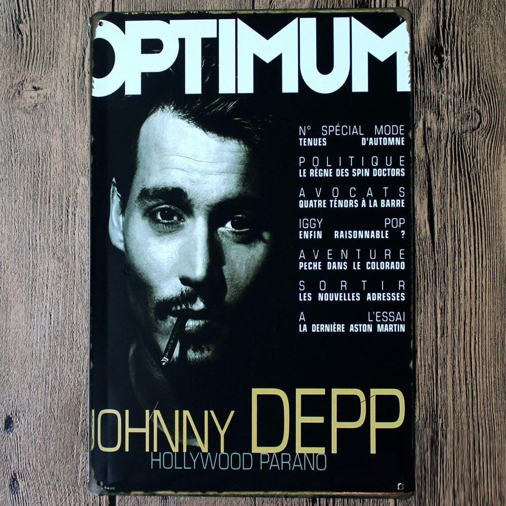 Johnny Deep Metal Tin Poster