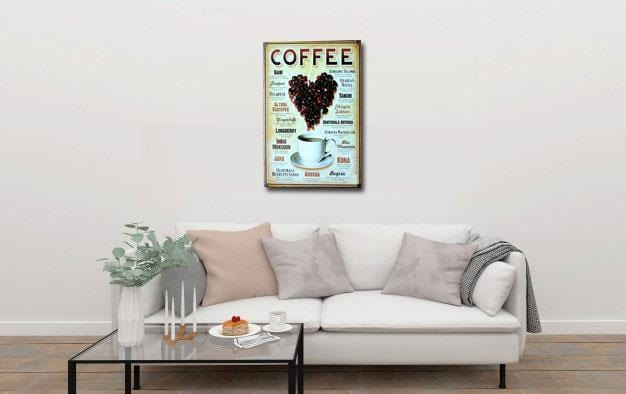 Coffee types Poster- Metal Tin Sign Poster