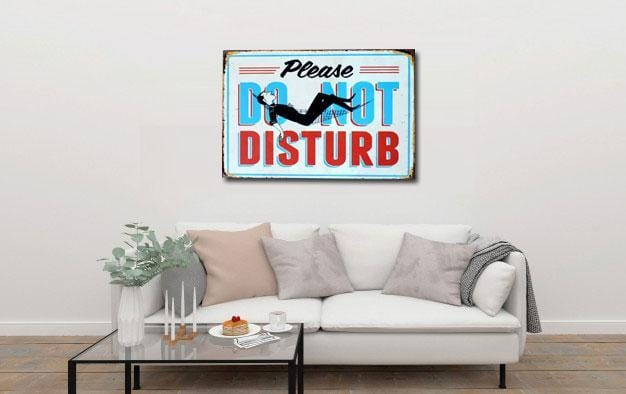 Do Not Disturb Sign - Metal Tin Poster