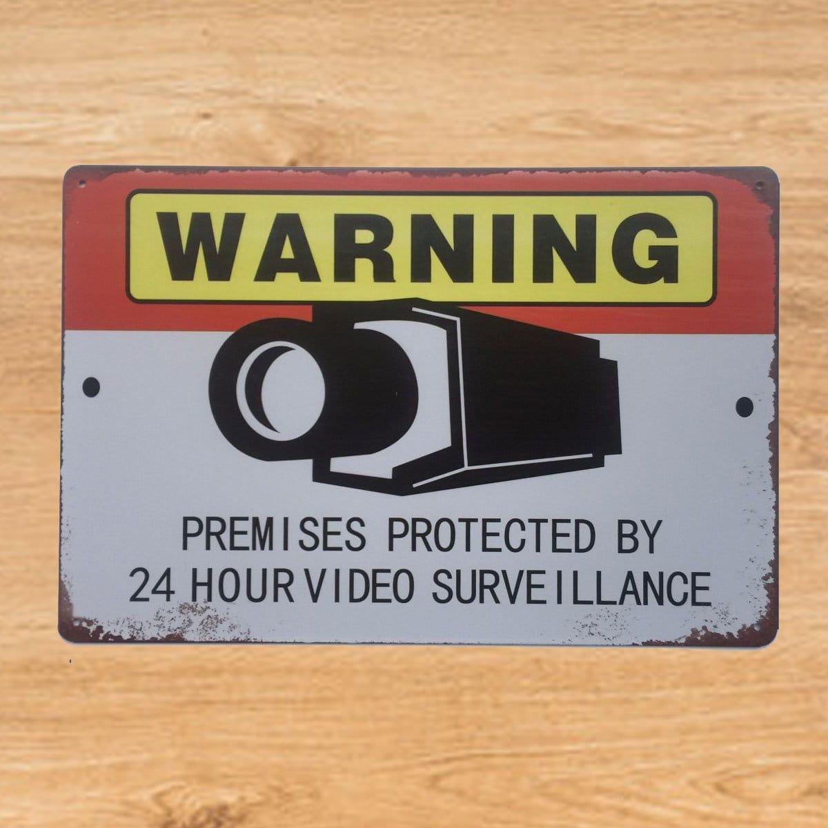 Video Surveillance Metal Tin Poster