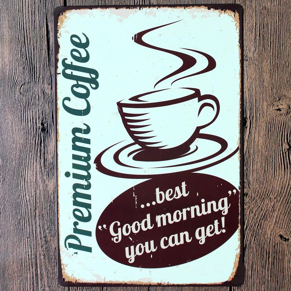 Vintage Coffee Poster Art- Metal Tin Sign Poster