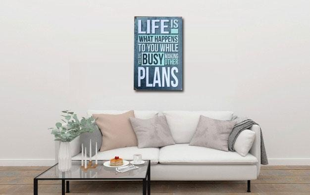 Famous Life Quote metal Tin Sign Poster