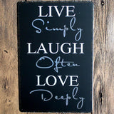 Live laugh Love Metal Tin Sign Poster