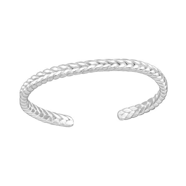 Silver Braided  Toe Ring