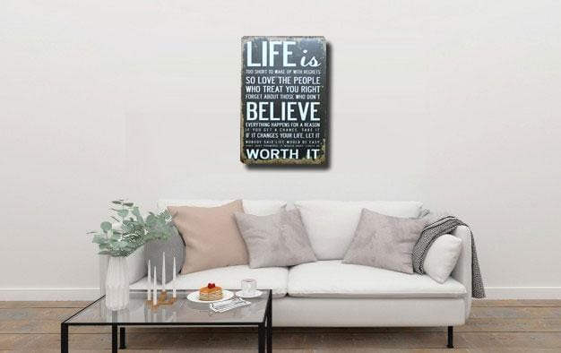 Life Quote metal Tin Sign poster