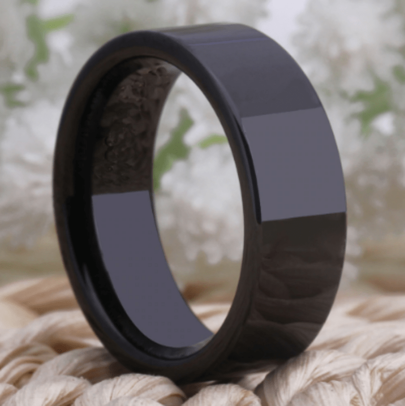Tungsten Black Wedding Ring