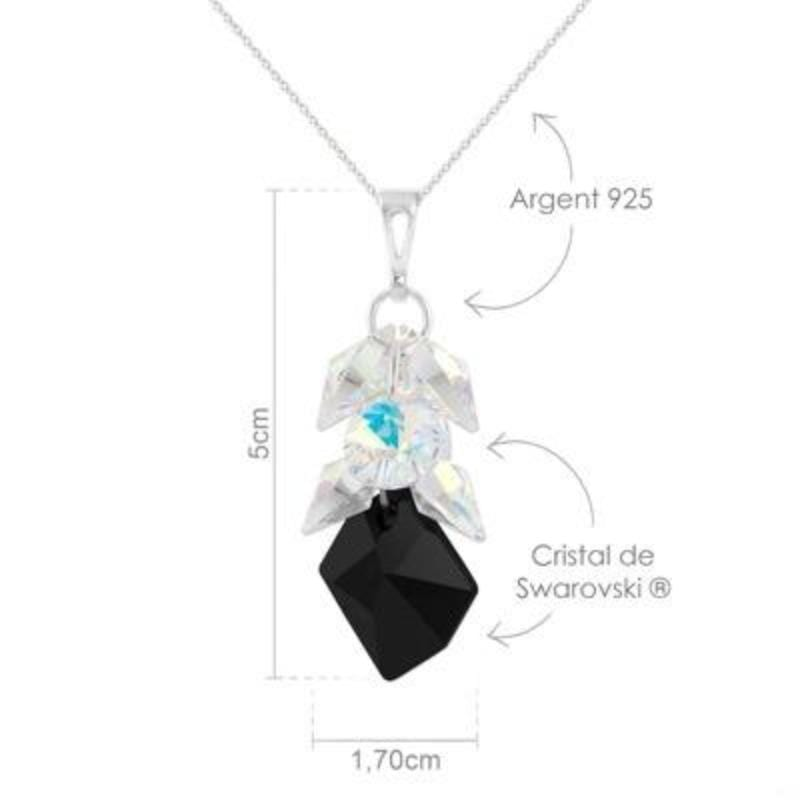 Silver Pendant Necklace Jewelry Set Made with Swarovski Crystal