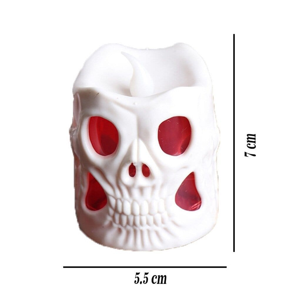 Colourful skull candles Set