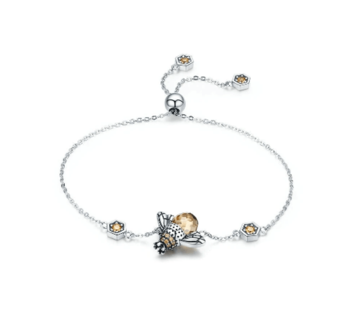 Silver Honey Bee Bracelet