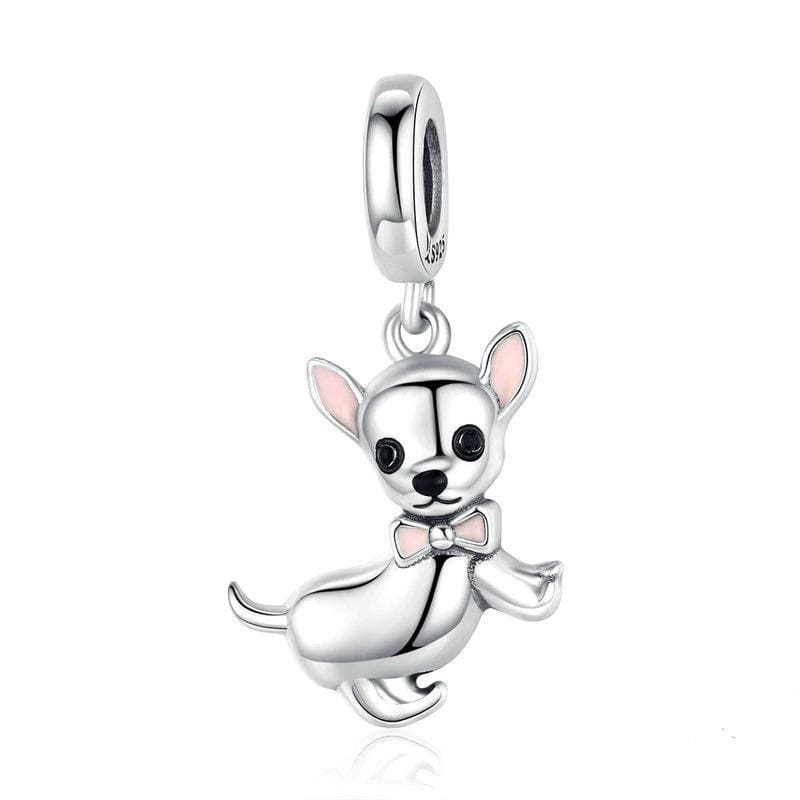 Sterling Silver Chihuahua Dog Charm