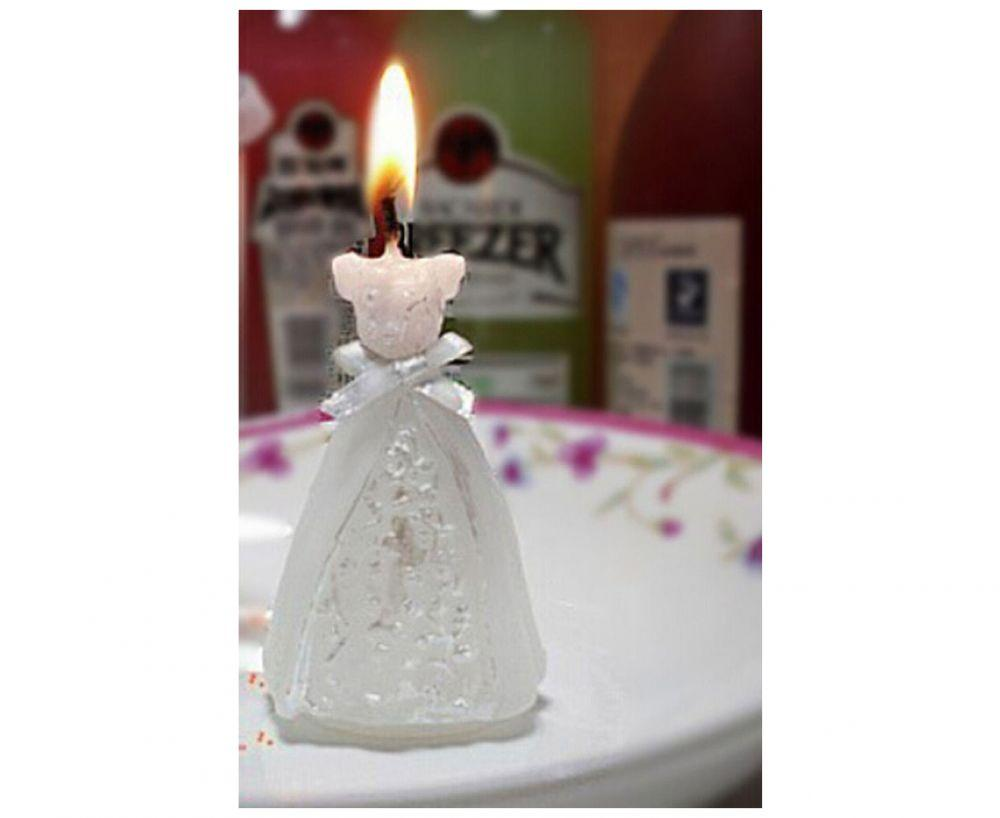 Bridal Wedding Topper Candle