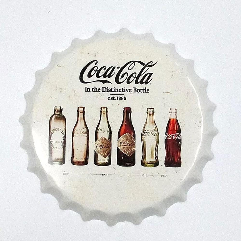 Coca Cola Beer Cap Metal Tin Sign Poster