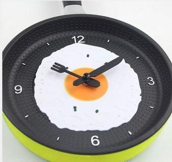 Creative Frying Pan Omelette Wall Clock