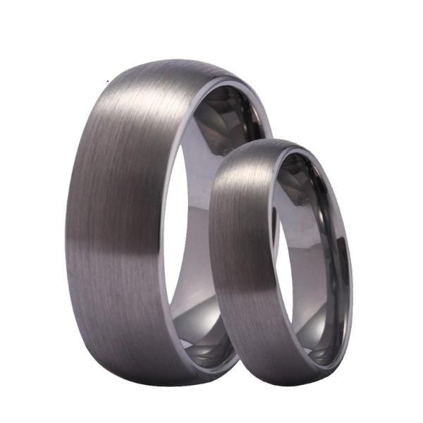Tungsten 6mm Matte Silver Wedding Bands