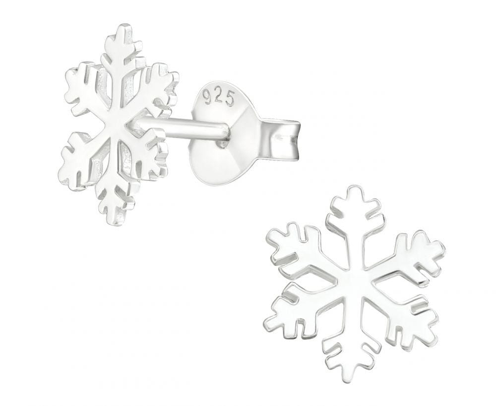 Sterling Silver Snowflake earrings Studs