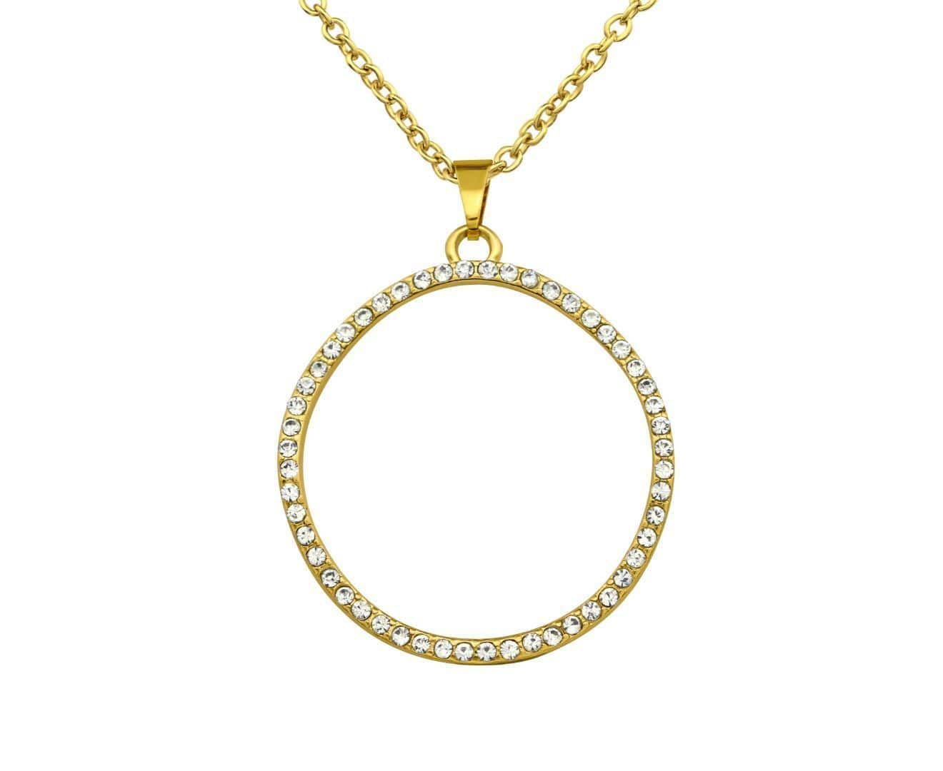 Gold Plated Circle Necklace