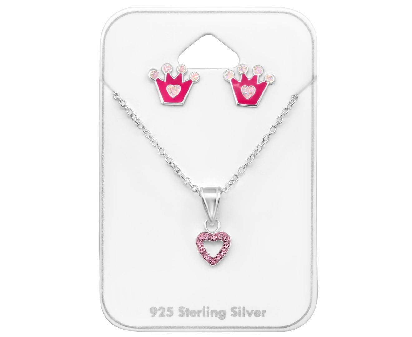 Kids Silver Princess Jewllery Set