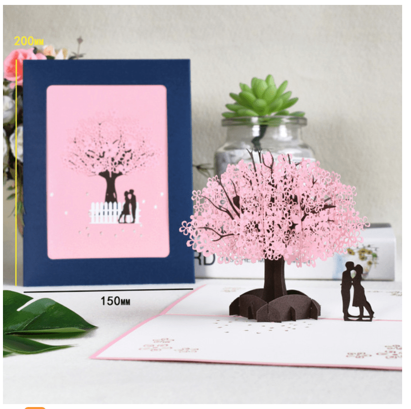 3D POp Up Couple Love Greeting Card
